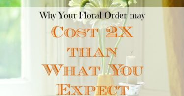floral arrangement costs, floral arrangement expenses, floral order costs