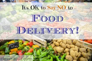food delivery, saying no, sticking to the budget