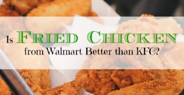 Walmart fried chicken, KFC fried chicken, fried chicken comparison