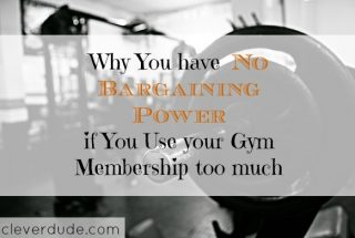 gym membership, using the gym, bargaining power at the gym