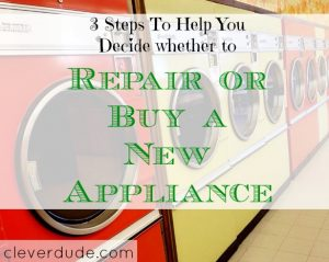 repairing an appliance, buying an appliance, purchase or repair an appliance