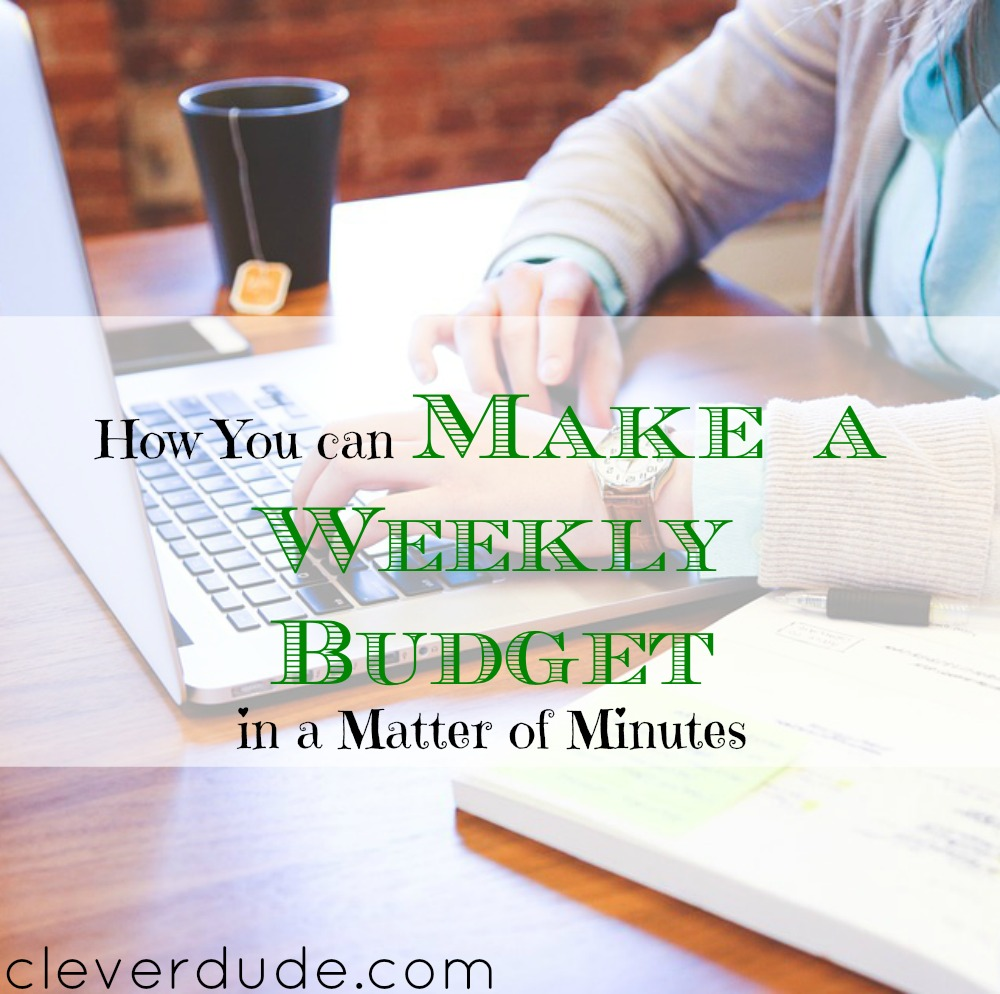 creating a budget in minutes, budgeting techniques, making a budget