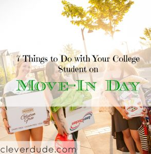 college student moving in, things to do on move-in day at college, college move-in tips