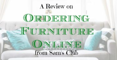 ordering furniture online, ordering furniture at sam's club, purchasing online