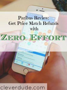 saving money through online shopping, paribus app, price match refunds