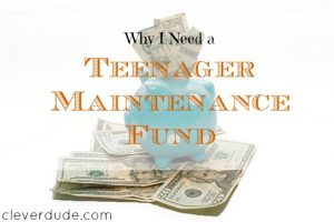maintenance fund, emergency savings fund, parenting tips