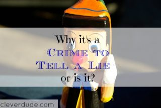 telling a lie, lying is a crime, crime