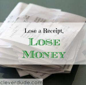 money advice, money tips, keeping a receipt