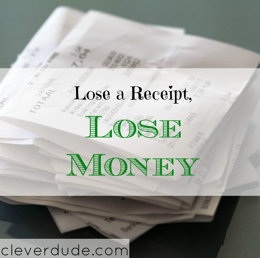 money advice, money tips, keeping a receipt