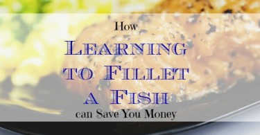 filleting a fish, saving money on fish fillet, filleting a fish