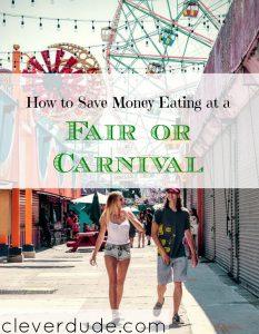 saving money at a carnival, saving money at an amusement park