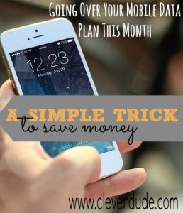 Does your family exceed your normal cell phone data limit? This simple trick saved me money and got me even more data! It can work for you, too.