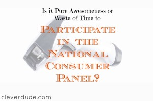 National Consumer Panel, participating in reward programs, participating in NCP