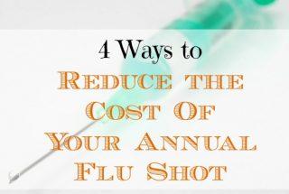 reducing annual flu shot costs, annual flu shot costs, flu shot expenses