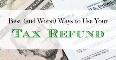 tax refund tips, tax refund advice, ways to use tax refund