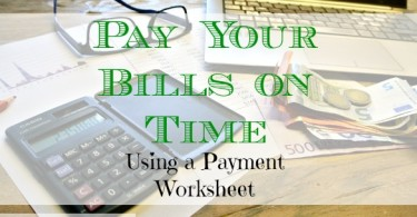 paying your bills, money management, payment worksheet