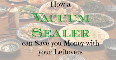 save money on leftovers, saving on leftover food, vacuum sealer advantages
