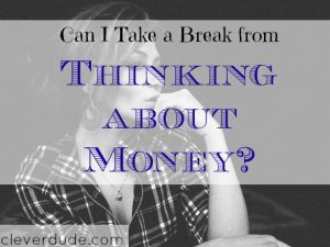 money problems, thinking about money, money advice