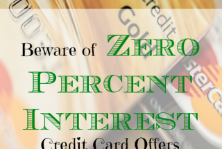 credit card tips, beware of zero percent interest rates, credit card advice